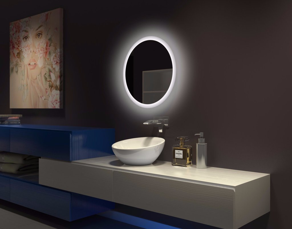 bathroom mirror backlit led backlit bathroom mirror 24 x 24 in the light 11003
