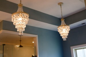 Chandeliers in Bathroom
